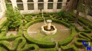 Jardines en el Parador nacional de Corias