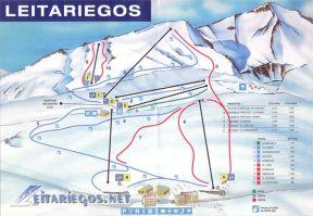 mapa estación de esquí Leitariegos