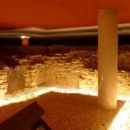 restos de la antigua iglesia del Parador Nacional de Corias