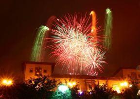 fuegos artificiales peña el Sarmiento