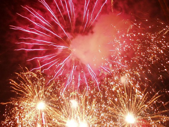 fuegos artificiales en Cangas del Narcea