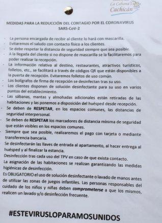 Medidas La Cabana´l Cachicán